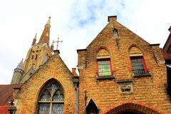 Ιστορικά κτήρια Μπρυζ Βέλγιο Στοκ φωτογραφία με δικαίωμα ελεύθερης χρήσης