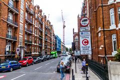 Ιστορικά κτήρια στην οδό Chiltern, Marylebone, Λονδίνο στοκ εικόνες