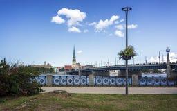 Ιστορικά κτήρια στην παλαιά Ρήγα στοκ φωτογραφίες