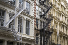 Ιστορικά κτήρια στην περιοχή Soho της πόλης της Νέας Υόρκης Στοκ Εικόνες