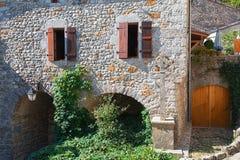 Ιστορικά κτήρια στο παλαιό χωριό Labeaume στο Ardeche Στοκ φωτογραφίες με δικαίωμα ελεύθερης χρήσης
