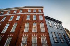 Ιστορικά κτήρια τούβλου σε στο κέντρο της πόλης Annapolis, Μέρυλαντ Στοκ φωτογραφίες με δικαίωμα ελεύθερης χρήσης