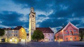 Ιστορικά ορόσημα Ravensburg το βράδυ, Γερμανία φιλμ μικρού μήκους