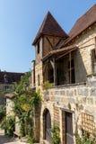 Ιστορικά σπίτια κατά μήκος της οδού Montagne στο Λα Caneda Sarlat στο τμήμα Dordogne, Aquitaine, Γαλλία στοκ φωτογραφία με δικαίωμα ελεύθερης χρήσης