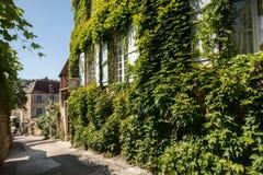 Ιστορικά σπίτια κατά μήκος της οδού Montagne στο Λα Caneda Sarlat στο τμήμα Dordogne, Aquitaine, Γαλλία στοκ εικόνα με δικαίωμα ελεύθερης χρήσης