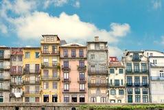 ιστορικά σπίτια Πόρτο Πορτ&omi στοκ εικόνες