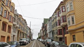 Ιστορικά σπίτια του Σαν Φρανσίσκο απόθεμα βίντεο
