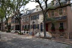 Ιστορικά σπίτια υπόλοιπου κόσμου στην παλαιά πόλη - Φιλαδέλφεια, Πενσυλβανία Στοκ φωτογραφία με δικαίωμα ελεύθερης χρήσης