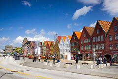 Ιστορικά buidings Bryggen στο Μπέργκεν, Νορβηγία Στοκ εικόνες με δικαίωμα ελεύθερης χρήσης
