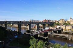 Ιστορικές γέφυρες του Νιουκάσλ Στοκ Φωτογραφίες