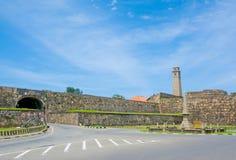 Ιστορικές κτήρια & αρχιτεκτονική μέσα στο ολλανδικό οχυρό Galle Στοκ Φωτογραφία
