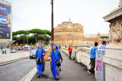 Ιστορική άποψη Ιταλία οδών της Ρώμης Στοκ Εικόνες