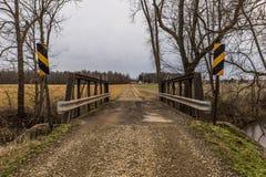 Ιστορική αγροτική γέφυρα - Οχάιο Στοκ Φωτογραφίες