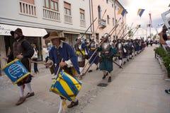 Ιστορική αναπαράσταση α Palmanova δ 1615 Στοκ Εικόνα