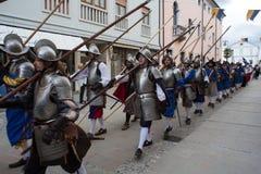 Ιστορική αναπαράσταση α Palmanova δ 1615 Στοκ φωτογραφία με δικαίωμα ελεύθερης χρήσης