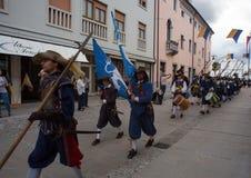 Ιστορική αναπαράσταση α Palmanova δ 1615 Στοκ φωτογραφίες με δικαίωμα ελεύθερης χρήσης
