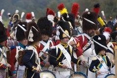 Ιστορική αναπαράσταση μάχης Borodino στη Ρωσία μουσικοί Στοκ εικόνες με δικαίωμα ελεύθερης χρήσης