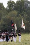 Ιστορική αναπαράσταση μάχης Borodino στη Ρωσία Στρατιώτες στρατού Russan Στοκ Εικόνες