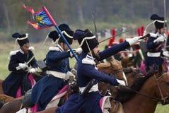 Ιστορική αναπαράσταση μάχης Borodino στη Ρωσία Στοκ φωτογραφίες με δικαίωμα ελεύθερης χρήσης