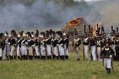 Ιστορική αναπαράσταση μάχης Borodino στη Ρωσία Στοκ Εικόνες
