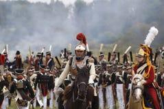 Ιστορική αναπαράσταση μάχης Borodino στη Ρωσία Στοκ εικόνες με δικαίωμα ελεύθερης χρήσης