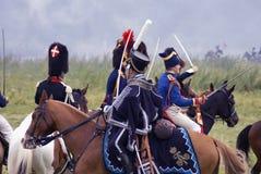 Ιστορική αναπαράσταση μάχης Borodino στη Ρωσία Στοκ Φωτογραφία