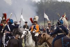 Ιστορική αναπαράσταση μάχης Borodino στη Ρωσία Στοκ Εικόνα