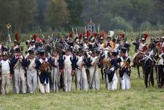 Ιστορική αναπαράσταση μάχης Borodino στη Ρωσία Στοκ φωτογραφία με δικαίωμα ελεύθερης χρήσης
