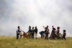 Ιστορική αναπαράσταση μάχης Borodino στη Ρωσία Στοκ εικόνα με δικαίωμα ελεύθερης χρήσης