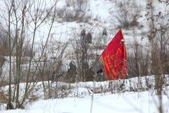 Ιστορική αναπαράσταση σε Porozhki, Λένινγκραντ Στοκ Φωτογραφίες
