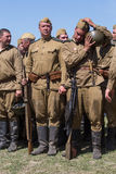 Ιστορική αναπαράσταση WWII στο Κίεβο, Ουκρανία Στοκ Εικόνες