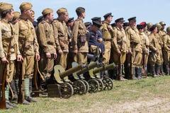 Ιστορική αναπαράσταση WWII στο Κίεβο, Ουκρανία Στοκ φωτογραφία με δικαίωμα ελεύθερης χρήσης