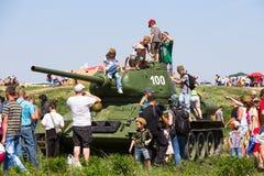 Ιστορική αναπαράσταση WWII στο Κίεβο, Ουκρανία Στοκ εικόνες με δικαίωμα ελεύθερης χρήσης