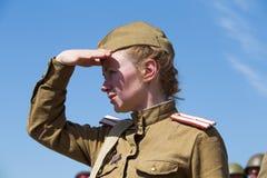 Ιστορική αναπαράσταση WWII στο Κίεβο, Ουκρανία Στοκ φωτογραφίες με δικαίωμα ελεύθερης χρήσης