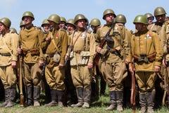 Ιστορική αναπαράσταση WWII στο Κίεβο, Ουκρανία Στοκ Φωτογραφία