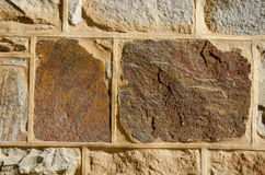 Ιστορική ανασκόπηση τοίχων οχυρών τούβλων πετρών στοκ εικόνα