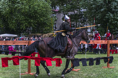 ιστορική αναδημιουργία ιπποτών φεστιβάλ μάχης στοκ φωτογραφία