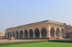 Ιστορική αρχιτεκτονική Agra Ινδία οχυρών πυραύλου αέρος-αέρος Agra Diwan Ε Στοκ φωτογραφία με δικαίωμα ελεύθερης χρήσης