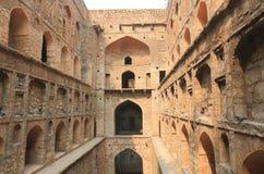 Ιστορική αρχιτεκτονική Ugrasen Ki Baoli Νέο Δελχί Ινδία Στοκ Εικόνα