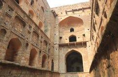Ιστορική αρχιτεκτονική Ugrasen Ki Baoli Νέο Δελχί Ινδία Στοκ Φωτογραφίες