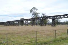 Ιστορική αυστραλιανή γέφυρα ραγών Στοκ Εικόνα