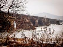 Ιστορική γέφυρα του Ρόκβιλ στο Χάρισμπουργκ στοκ φωτογραφίες