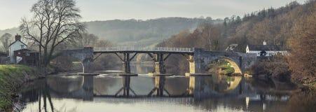 Ιστορική γέφυρα φόρου που εκτείνεται Wye ποταμών στο UK στοκ φωτογραφίες με δικαίωμα ελεύθερης χρήσης