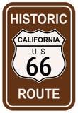 Ιστορική διαδρομή 66 Καλιφόρνιας Στοκ Εικόνες