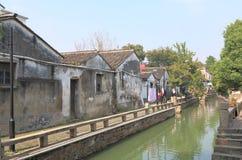 Ιστορική εικονική παράσταση πόλης Suzhou Κίνα οδών Pingjiang Στοκ Εικόνα