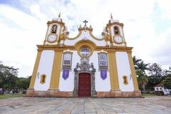 Ιστορική εκκλησία στην πόλη Tiradentes, στο κράτος του λ. στοκ εικόνες με δικαίωμα ελεύθερης χρήσης