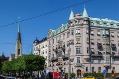 Ιστορική εκκλησία Σουηδία οικοδόμησης Στοκχόλμη Oscar Στοκ Φωτογραφίες