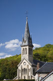 Ιστορική εκκλησία στη γαλλική επαρχία Στοκ Φωτογραφία