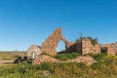 Ιστορική καταστροφή στο αγρόκτημα Matjiesfontein στο βόρειο ακρωτήριο στοκ εικόνα με δικαίωμα ελεύθερης χρήσης
