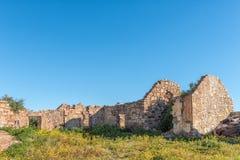 Ιστορική καταστροφή στο αγρόκτημα Matjiesfontein στο βόρειο ακρωτήριο στοκ εικόνες